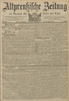 Altpreussische Zeitung, Nr. 170 Mittwoch 24 Juli 1889, 41. Jahrgang