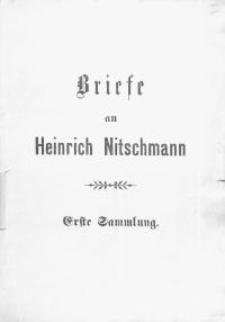 Briefe an Heinrich Nitschmann