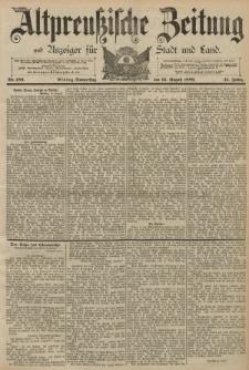 Altpreussische Zeitung, Nr. 189 Donnerstag 15 August 1889, 41. Jahrgang