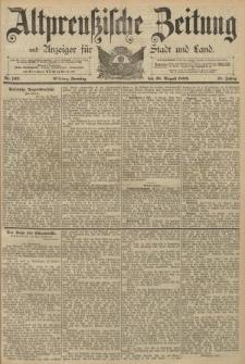 Altpreussische Zeitung, Nr. 191 Sonnabend 17 August 1889, 41. Jahrgang