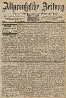 Altpreussische Zeitung, Nr. 197 Sonnabend 24 August 1889, 41. Jahrgang