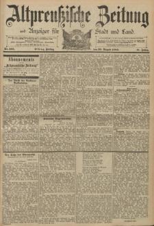 Altpreussische Zeitung, Nr. 202 Freitag 30 August 1889, 41. Jahrgang