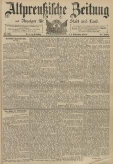 Altpreussische Zeitung, Nr. 205 Dienstag 3 September 1889, 41. Jahrgang