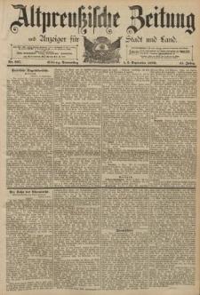 Altpreussische Zeitung, Nr. 207 Donnerstag 5 September 1889, 41. Jahrgang