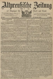 Altpreussische Zeitung, Nr. 214 Freitag 13 September 1889, 41. Jahrgang