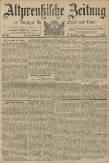Altpreussische Zeitung, Nr. 218 Mittwoch 18 September 1889, 41. Jahrgang
