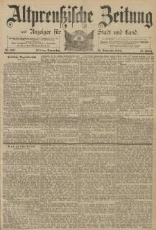 Altpreussische Zeitung, Nr. 219 Donnerstag 19 September 1889, 41. Jahrgang
