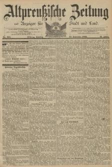 Altpreussische Zeitung, Nr. 228 Sonntag 29 September 1889, 41. Jahrgang