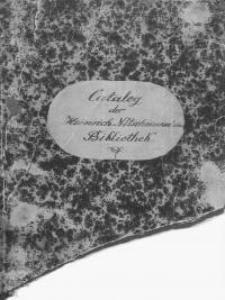 Catalog der Heinrich Nitschmann`schen Bibliothek
