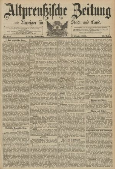 Altpreussische Zeitung, Nr. 243 Donnerstag 17 Oktober 1889, 41. Jahrgang