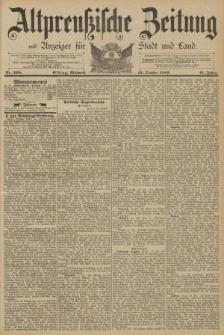 Altpreussische Zeitung, Nr. 248 Mittwoch 23 Oktober 1889, 41. Jahrgang