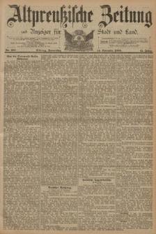 Altpreussische Zeitung, Nr. 267 Donnerstag 14 November 1889, 41. Jahrgang