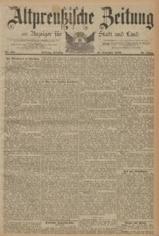Altpreussische Zeitung, Nr. 271 Dienstag 19 November 1889, 41. Jahrgang