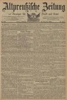 Altpreussische Zeitung, Nr. 272 Mittwoch 20 November 1889, 41. Jahrgang