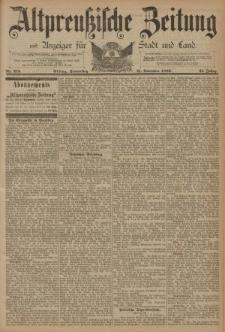 Altpreussische Zeitung, Nr. 273 Donnerstag 21 November 1889, 41. Jahrgang