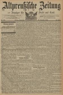 Altpreussische Zeitung, Nr. 275 Sonnabend 23 November 1889, 41. Jahrgang