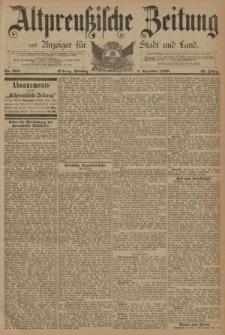 Altpreussische Zeitung, Nr. 283 Dienstag 3 Dezember 1889, 41. Jahrgang