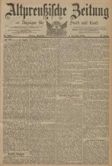 Altpreussische Zeitung, Nr. 284 Mittwoch 4 Dezember 1889, 41. Jahrgang