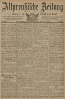 Altpreussische Zeitung, Nr. 289 Dienstag 10 Dezember 1889, 41. Jahrgang