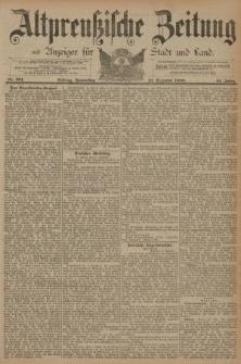 Altpreussische Zeitung, Nr. 291 Donnerstag 12 Dezember 1889, 41. Jahrgang