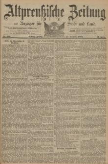 Altpreussische Zeitung, Nr. 292 Freitag 13 Dezember 1889, 41. Jahrgang