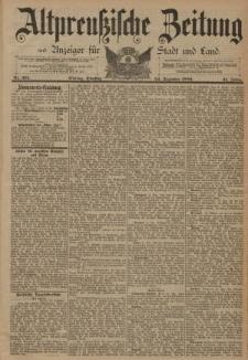 Altpreussische Zeitung, Nr. 301 Dienstag 24 Dezember 1889, 41. Jahrgang