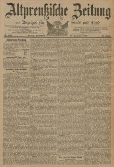 Altpreussische Zeitung, Nr. 303 Sonnabend 28 Dezember 1889, 41. Jahrgang