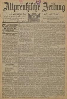 Altpreussische Zeitung, Nr. 1 Mittwoch 1 Januar 1890, 42. Jahrgang