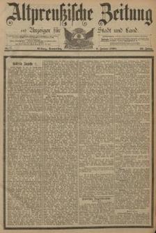 Altpreussische Zeitung, Nr. 7 Donnerstag 9 Januar 1890, 42. Jahrgang