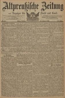 Altpreussische Zeitung, Nr. 11 Dienstag 14 Januar 1890, 42. Jahrgang