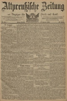 Altpreussische Zeitung, Nr. 14 Freitag 17 Januar 1890, 42. Jahrgang