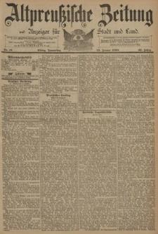 Altpreussische Zeitung, Nr. 19 Donnerstag 23 Januar 1890, 42. Jahrgang