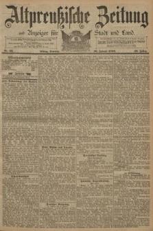 Altpreussische Zeitung, Nr. 22 Sonntag 26 Januar 1890, 42. Jahrgang