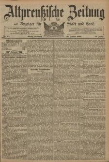Altpreussische Zeitung, Nr. 24 Mittwoch 29 Januar 1890, 42. Jahrgang