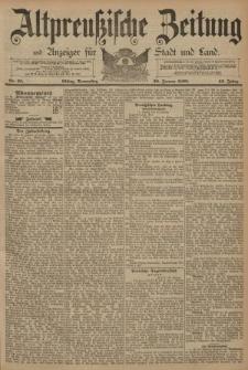 Altpreussische Zeitung, Nr. 25 Donnerstag 30 Januar 1890, 42. Jahrgang