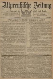 Altpreussische Zeitung, Nr. 28 Sonntag 2 Februar 1890, 42. Jahrgang