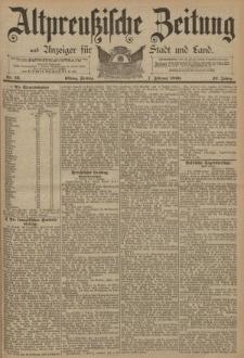 Altpreussische Zeitung, Nr. 32 Freitag 7 Februar 1890, 42. Jahrgang