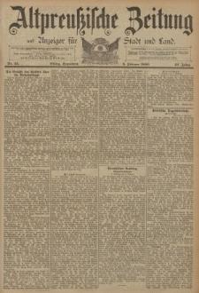Altpreussische Zeitung, Nr. 33 Sonnabend 8 Februar 1890, 42. Jahrgang