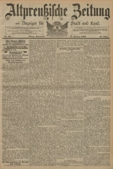 Altpreussische Zeitung, Nr. 39 Sonnabend 15 Februar 1890, 42. Jahrgang