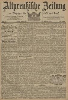 Altpreussische Zeitung, Nr. 43 Donnerstag 20 Februar 1890, 42. Jahrgang