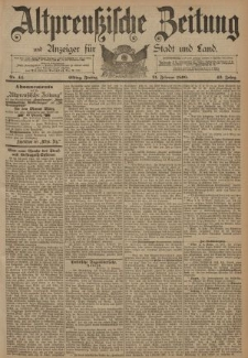 Altpreussische Zeitung, Nr. 44 Freitag 21 Februar 1890, 42. Jahrgang