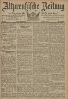 Altpreussische Zeitung, Nr. 55 Donnerstag 6 März 1890, 42. Jahrgang