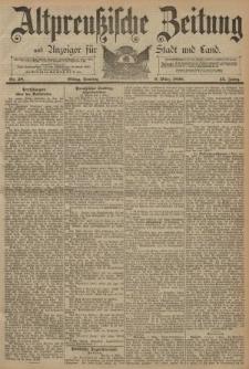 Altpreussische Zeitung, Nr. 58 Sonntag 9 März 1890, 42. Jahrgang
