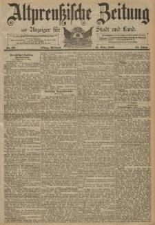 Altpreussische Zeitung, Nr. 66 Mitwoch 19 März 1890, 42. Jahrgang