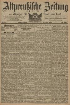 Altpreussische Zeitung, Nr. 94 Mittwoch 23 April 1890, 42. Jahrgang