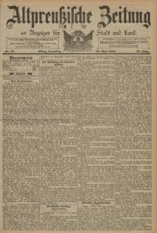 Altpreussische Zeitung, Nr. 95 Donnerstag 24 April 1890, 42. Jahrgang