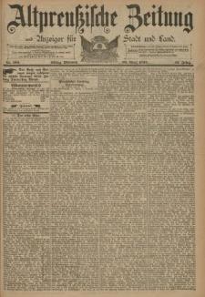 Altpreussische Zeitung, Nr. 100 Mittwoch 30 April 1890, 42. Jahrgang