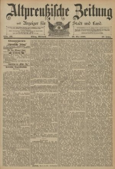 Altpreussische Zeitung, Nr. 121 Mittwoch 28 Mai 1890, 42. Jahrgang
