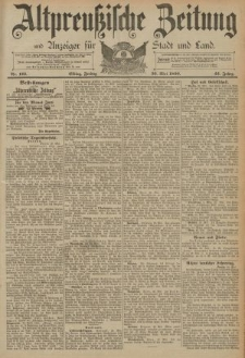 Altpreussische Zeitung, Nr. 123 Freitag 30 Mai 1890, 42. Jahrgang