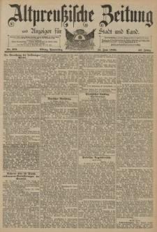 Altpreussische Zeitung, Nr. 134 Donnerstag 12 Juni 1890, 42. Jahrgang